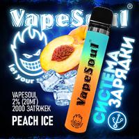 VapeSoul 2000 PUFFS Peach Ice